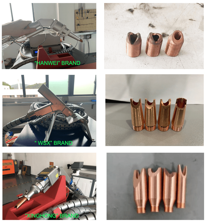 Welding gun with different brand and its nozzles-min